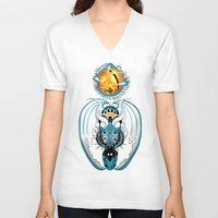 skyfall V-neck T-shirts featuring Cosmic Skyfall Dragon by Pr0l0gue