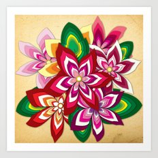 Colourful Flowers Art Print