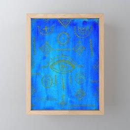 Berber Blue + Gold Framed Mini Art Print