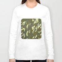 camouflage Long Sleeve T-shirts featuring Camouflage  by Ethna Gillespie