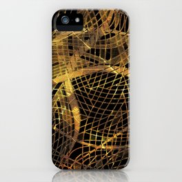Gold Leaf Layered Gossamer 3D Abstract iPhone Case
