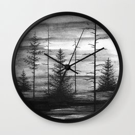 Dark Woods Wall Clock