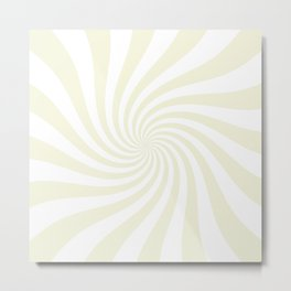 Swirl (Beige/White) Metal Print
