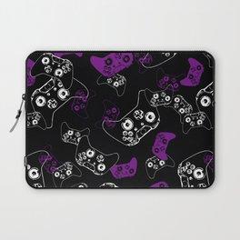 Video Game Purple on Black Laptop Sleeve