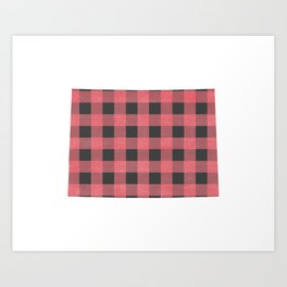 Colorado Plaid in Pink Art Print