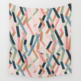 Straight Geometry Ribbons 1 Wall Tapestry
