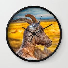 watching the wildlife watching me Wall Clock