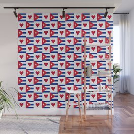 Flag of Cuba 3 -cuban,havana, guevara,che,castro,tropical,central america,spanish,latine Wall Mural