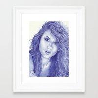 alisa burke Framed Art Prints featuring Alisa by Rafael Augusto