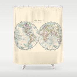 Hemispheres Shower Curtain