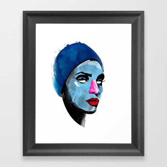 Woman's head Framed Art Print