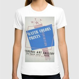 Vintage poster - Water Colors and Prints Exhibition T-shirt