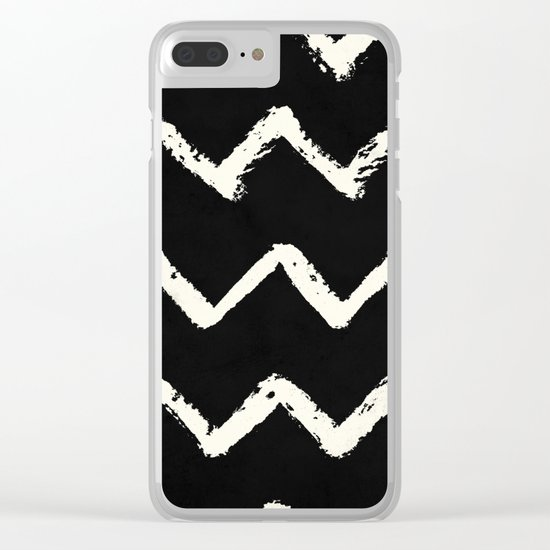 Tribal Chevron Stripes Clear iPhone Case