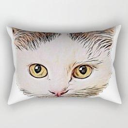 Turkish Angora Cat turkey Central asian sultan descent Rectangular Pillow