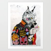 Who You Callin' a Pu$$y? Art Print