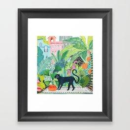 Jungle Panther Framed Art Print