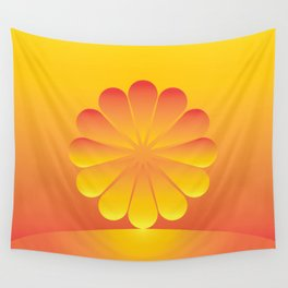 the sun rises Wall Tapestry