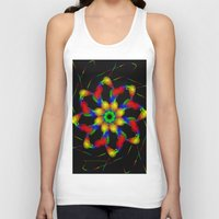 fractal Tank Tops featuring Fractal by Marisa Lopez-Cruzan