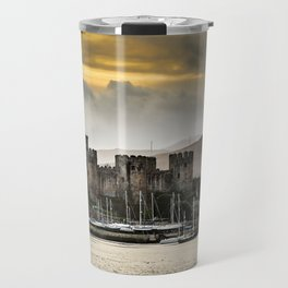Sunset at Conwy Castle, North Wales Travel Mug