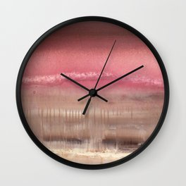 She is Wilful, Abstract Painting Wall Clock
