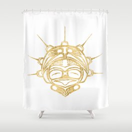 Gold Frog Spirit Shower Curtain