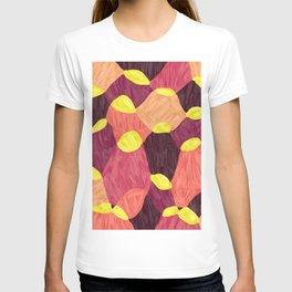 Quilt Abstract Painting 2 Beach Surf Wave T-shirt