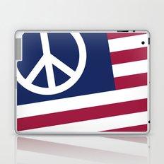 Peace and Love USA Flag Laptop & iPad Skin