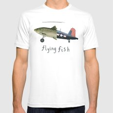 flying fish Mens Fitted Tee MEDIUM White