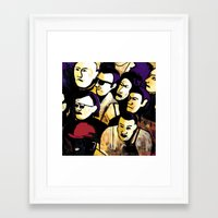 faces Framed Art Prints featuring Faces by Helen Syron