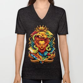 Harry Potter : Hogwarts Houses Unisex V-Neck