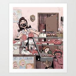 Boucherie charcuterie Art Print