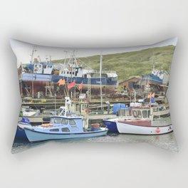 Fishing Harbor Rectangular Pillow