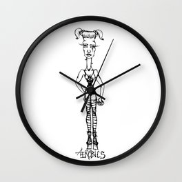 Big Headed Aerobics Wall Clock
