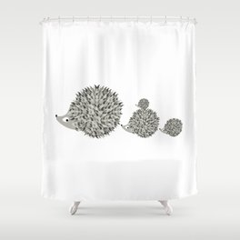 Hedgehogs family Shower Curtain