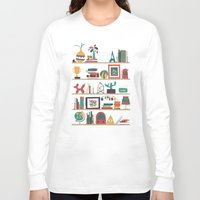 budi Long Sleeve T-shirts featuring The shelf by Picomodi