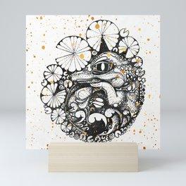 Baby Crocodile Inktober :: I Am The Unborn Mini Art Print