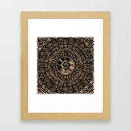Hunab Ku Gold on black #4 Framed Art Print