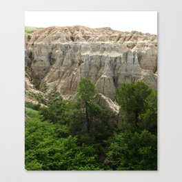 Badlands View From The Rim Road Canvas Print