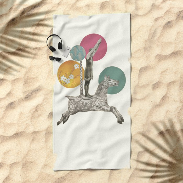Runaway Horse Beach Towel