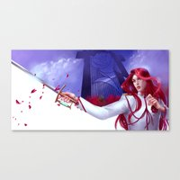 utena Canvas Prints featuring Duelist by franzkatter