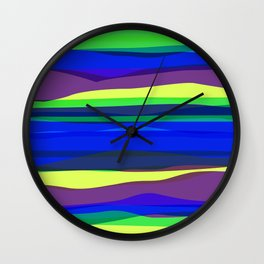 Waves 2 Wall Clock