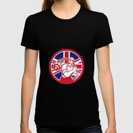 British Cable Installer Union Jack Flag Icon T-shirt