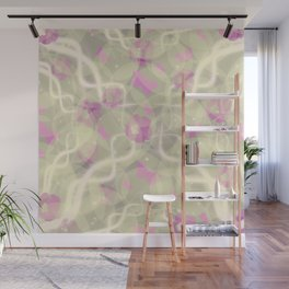 spring pattern,rose,flieder, butterfly and flower Wall Mural