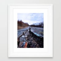 silent hill Framed Art Prints featuring Trial Through Silent Hill by Julie Maxwell