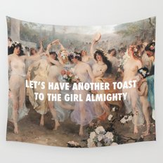 Floralia   Girl Almighty Wall Tapestry