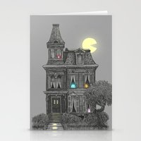 dude Stationery Cards featuring Haunted by the 80's by Terry Fan