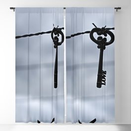 The love key Blackout Curtain