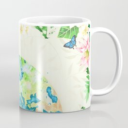 Tropical Earth Shakespeare Quote Illustration Coffee Mug
