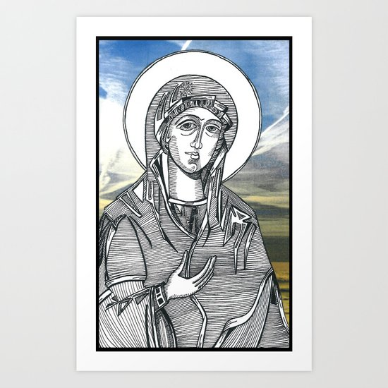 Madonna of the Skies Art Print