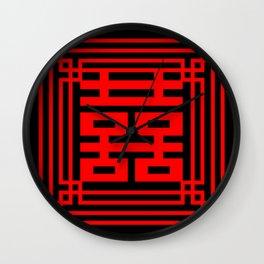 PATTERN ART06-1-Red Wall Clock